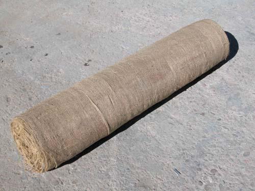 Burlap Fabric Erosion Control