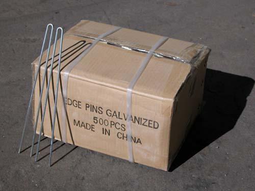 Galvanized Steel Edging Pins