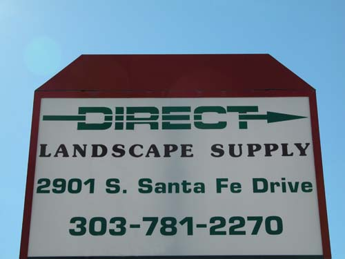 Direct Landscape Supply Sign